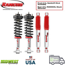 Rancho QuickLIFT Struts w/ RS9000 Shock Absorbers Set 07-18 GM Sierra Silverado