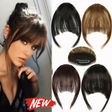 Women Clip in Bangs 100% Human Hair Extensions Clip on Fringe Bangs Hairpiece LB