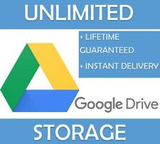 GOOGLE DRIVE UNLIMITED STORAGE [FOR EXISTING GOOGLE ACCOUNT] [LIFETIME]