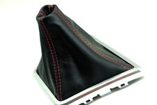 Shift Boot Real Leather For 08-14 Dodge Challenger STR8 SE STX Red Stitch Manual