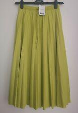 NEXT Neon Stretch Pleat Midi Skirt 10/12 TALL  RRP £34