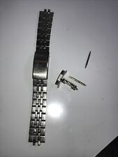 Tuning Fork Clasp Watch Band Vintage Bulova Accutron Stainless Steel