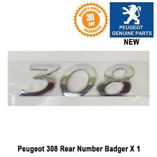 Peugeot 308 Badge Number boot Rear Tailgate Emblem Logo Genuine New 8665VG