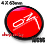 4 x 63mm OZ Racing M595 Rot Allufelge Nabenkappen Nabedeckel Wheel Cap