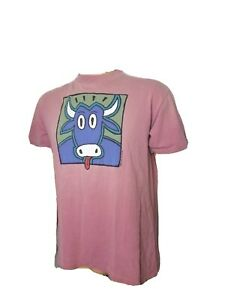 Vintage Single Stitch Marthas Vineyard Ice Cream Cartoon Cow Big Hed 90s Shirt