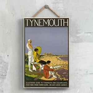 TYNEMOUTH ORIGINAL NATIONAL RAILWAY POSTER ON A PLAQUE VINTAGE DECOR
