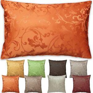 Cushion cover Jacquard Tendril-Design Throw Pillow case 16x16'' 20x20'' 16x24''
