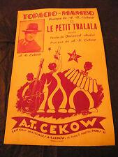 Partition Topacio Mambo A T Cekow Le petit tralala 1957 Music Sheet