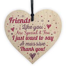Friendship Best Friend Gift Handmade Wooden Heart Plaque Birthday Thank You
