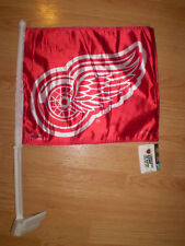 """DETROIT RED WINGS Car Flag NHL Hockey BRAND NEW Show Team Support (14"""" x 11"""")"""