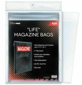 "Ultra PRO Life Magazine Bags Sleeves Protectors Comic 11-1/8 x 15-1/8"" 100ct"