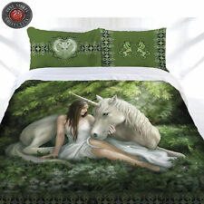 Pure Heart Unicorn Quilt Cover Set by Anne Stokes - DOUBLE QUEEN KING