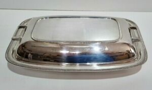 Vintage heavy silver plated F.C & Co EPNS A1 serving dish / tray with lid Tureen