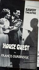 Theatre programme. House Guest. Savoy Theatre. 1981. Gerald Harper. Sylvia Syms.