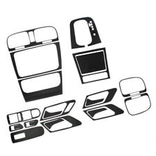 INTERNO FIBRA DI CARBONIO NERO PANNELLO CRUSCOTTO Set adesivi compatibile