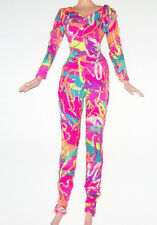 TEEN Barbie or Disney Doll Clothing Multi Color Silver Psychedelic Jumpsuit M131