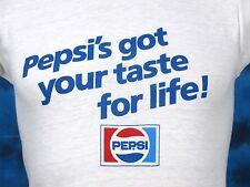 vintage 80s PEPSI'S GOT YOUR TASTE FOR LIFE PAPER THIN T-Shirt XXS soda pop soft