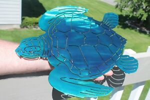 Turtle wall art blue