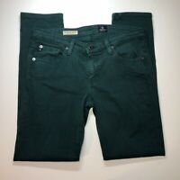 Adriano Goldschmied Womens Jeans Sz 29 Green Slim Straight Stevie Ankle