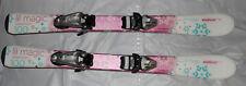 Elan Lil Magic kids girls skis 100cm + tyrolia SX 4.5 silver adjust Bindings New