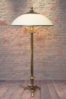 Designer Art Déco Bodenlampe Salonlampe Unikat Messinglampe 85 cm hoch