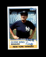 Clyde King Hand Signed 1983 Topps New York Yankees Autograph