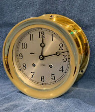 """* Fully Restored * 1982 Chelsea Ships Bell Clock *Large 6"""" Dial*"""