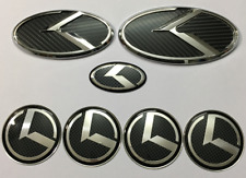 7pcs/set black carbon 3D sticker K logo badge emblem for KIA OPTIMA K5 2011-2017
