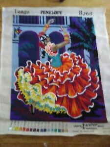TAPESTRY OF A SPANISH LADY  WORKED TANGO PENELOPE B268 MADE IN ENGLAND 58CMX66CM