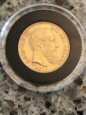 1875 20 Franc Belgian .90 Gold Coin (about 6 grams of Gold!)