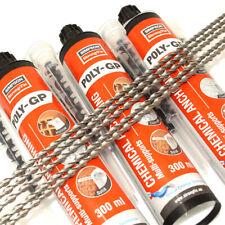 MASONRY CRACK STITCHING REPAIR KIT 5 x 6mm x 1m BAR + 3 x COLOUR CHANGING RESIN