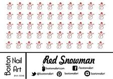 Red Snowman - Waterslide Nail Decal - 50 PC - BNA-10048