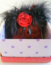 Red and Black Sachet in the form of a Purse Gift for Red Hat Society  Christmas