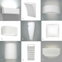 Single / Pair of LED Indoor Ceramic Wall Sconce Light Fittings Uplighter Lights