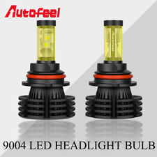 1 Pair 9004 HB1 LED Headlight Bulbs Hi/Lo Beam Combo White 6000K 1800W 195000LM