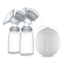 REAL BUBEE Both Sides PP Electric Massage Breast Pump with 2 Baby Milk Bottles