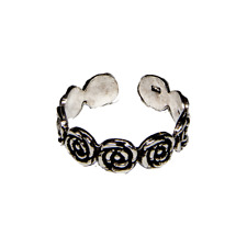Toe Ring .925 silver girls adjustable open foot beach rose ring feeanddave