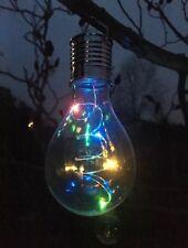 4 Energia Solare Multicolore cangianti LED Appeso Lampadine Luci da Giardino