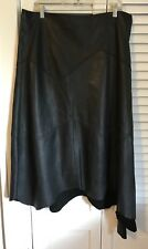 K-Yen Custom Stitched Women Genuine Sheepskin Asymmetrical Leather Skirt France