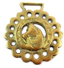 "Horse Head design Brass Bridle metal Decoration Gold-tone 3""w x 3.5"" t"