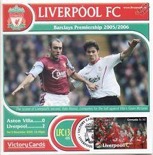 Liverpool 2005-06 Aston Villa (Xabi Alonso) Football Stamp Victory Card #513