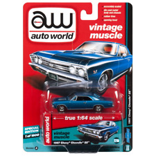 1967 Chevrolet Chevelle - Marina Blue 1:64 Escala AW64132