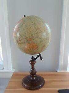 Vintage Rand McNally Terrestrial Globe