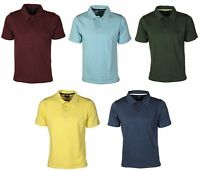 Mens Lightweight Solid Casual Sports Summer Work Short Sleeve Polo T shirt Top
