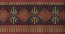 ARCHITECTURAL DIAMONDS RED AND TAN WALLPAPER BORDER