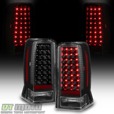 Black 2002-2006 Cadillac Escalade ESV LED Tail Lights Brake Lamps Set Left+Right