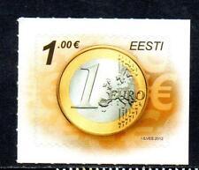 Estonia Gomma integra, non linguellato 2012 MONETE-EURO STAMP. Autoadesivo