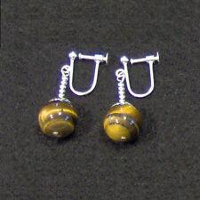 Clip On - Tigers Eye Potara Earrings Dragonball-Z DBZ Dragon Ball Ear rings