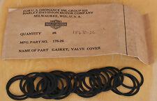 25 NOS Original Harley 1929-1973 Upper Tappet Block Lower Valve Cover Gaskets 81
