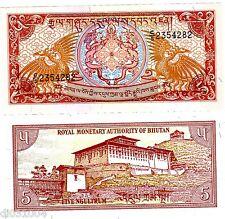 Bhutan BHOUTAN  Billet 5 Ngultrum 1986 P14  NEUF UNC
